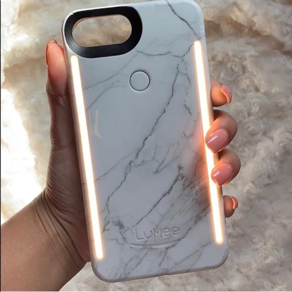 2c0781f870 LuMee Accessories | Marble Selfie Light Up Iphone Case | Poshmark